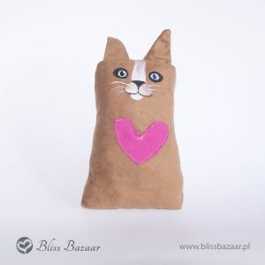 Cat handmade, handpainted