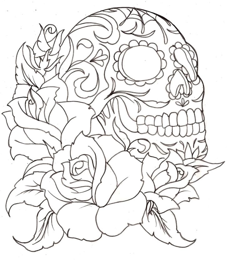 sugar skull tattoos - Google Search