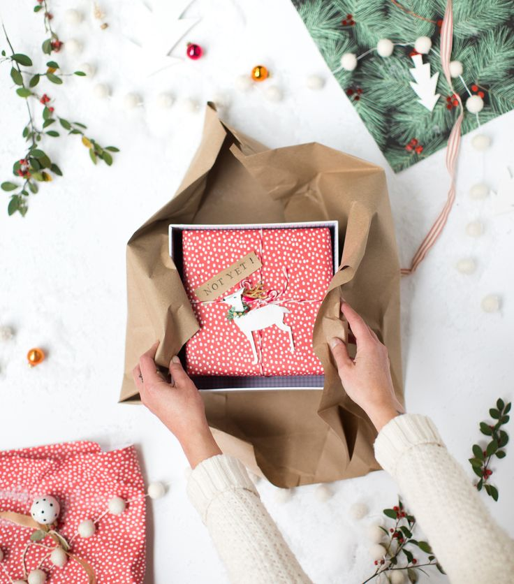A fun way to wrap a big but little gift with @shanecompany #ad #Biglittlegifts