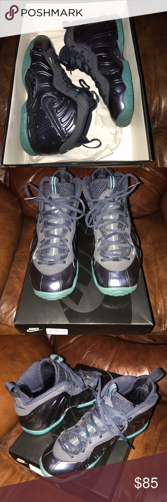 Authentic Used Nike Kids Foam Posites used several times good condition few scratches but still good in box Nike Shoes Sneakers
