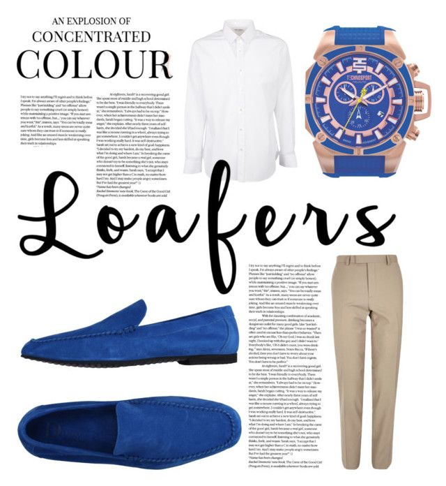 """""""Fantastic Navy Blue"""" by www101watch ❤ liked on Polyvore featuring DreamLine, Di Mella, Gucci, River Island, Yves Saint Laurent, men's fashion, menswear and loafers"""