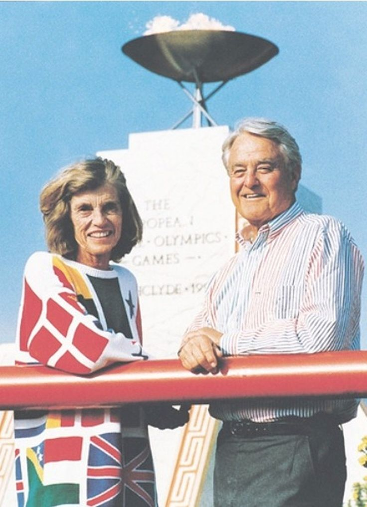 Eunice and Sarge at the Opening Ceremonies of the Special Olympics.❤❁❤❁❤❁❤❁❤❁❤ (Eunice Kennedy Shriver was the founder in 1962 of Camp Shriver which started on her Maryland farm known as Timberlawn and, in 1968 evolved into the Special Olympics) http://en.wikipedia.org/wiki/Eunice_Kennedy_Shriver http://en.wikipedia.org/wiki/Sargent_Shriver