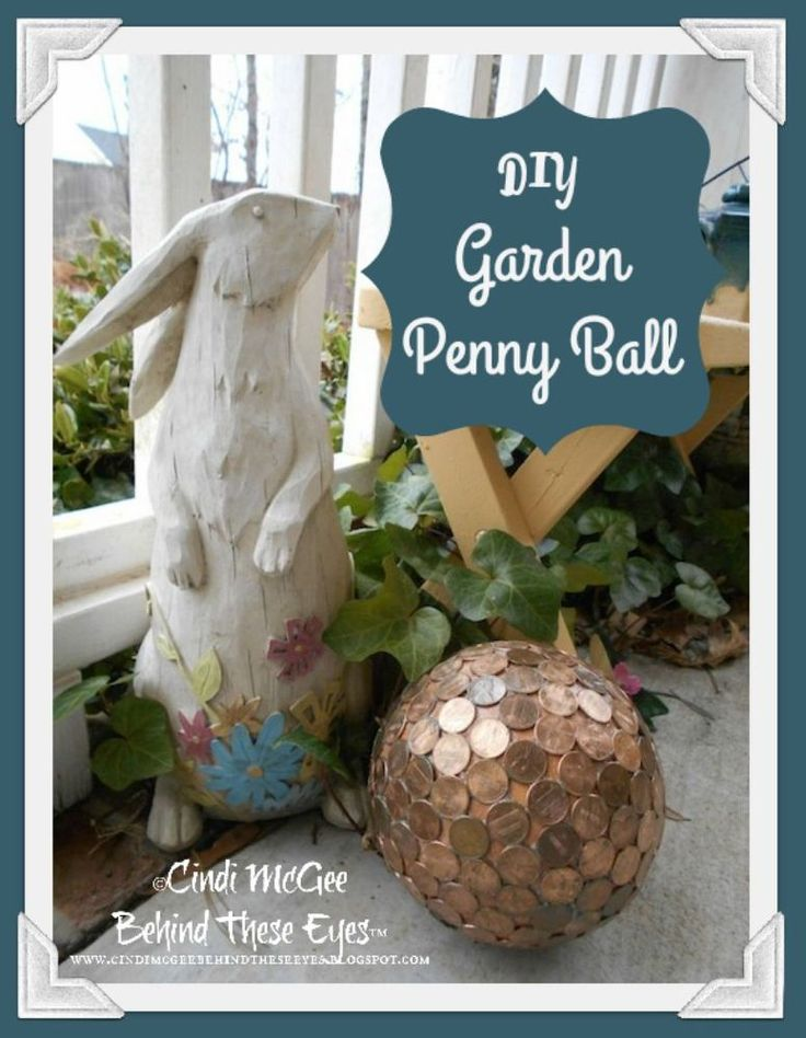 DIY Penny Balls for Your Garden - Penny balls are quick and easy to make! They look beautiful in your garden, and they also repel slugs and will make hydrangea flowers blue.