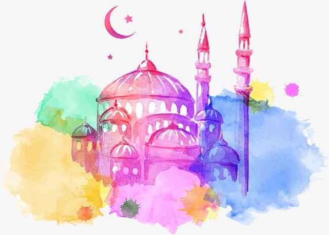 Color Watercolor Halal Building Vector Color Vector Watercolor Vector Halal Vector Png And Vector With Transparent Background For Free Download Ramadan Mosque Art Ramadan Kareem
