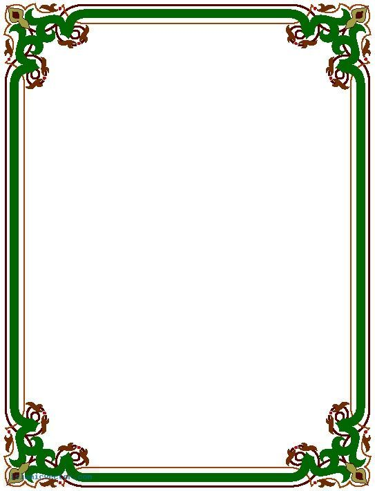 image result for first page of project border