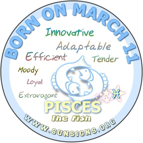 Pisces March 11 – Birthday Horoscope Personality Traits