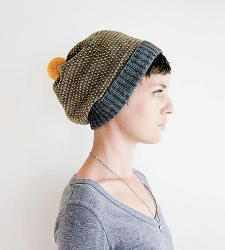 Dotted Wool Pom Pom Beanie Hat by Sourpuss Knits on Scoutmob Shoppe