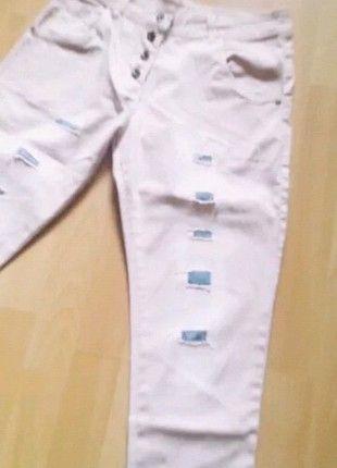 Kup mój przedmiot na #vintedpl http://www.vinted.pl/damska-odziez/rurki/11731306-pudrowe-spodnie-z-przetarciami