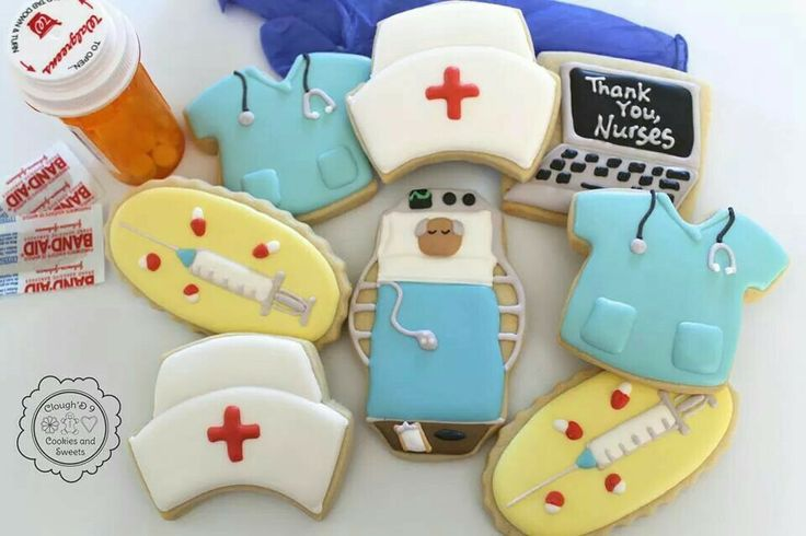 Nurse's appreciation cookies by Clough D9 Cookies & Sweets