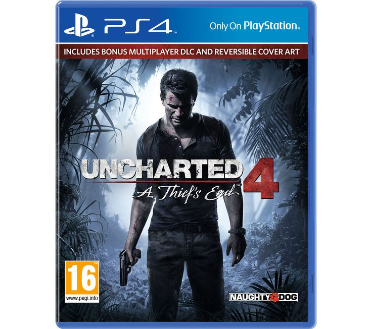 PLAYSTATION 4  Uncharted 4: A Thief's End - for PS4 Price: £ 44.99 Adventure comes calling again for Nathan Drake in Uncharted 4: A Thief's End . Treasure seeking Three years after the events of Uncharted 3: Drake's Deception, Drake's brother Sam has resurfaced, seeking help to save his own life and offering a new adventure for the retired fortune hunter. Hunting for Captain Henry Avery's...