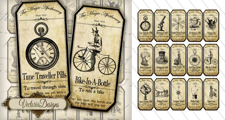 Printable Steampunk Apothecary
