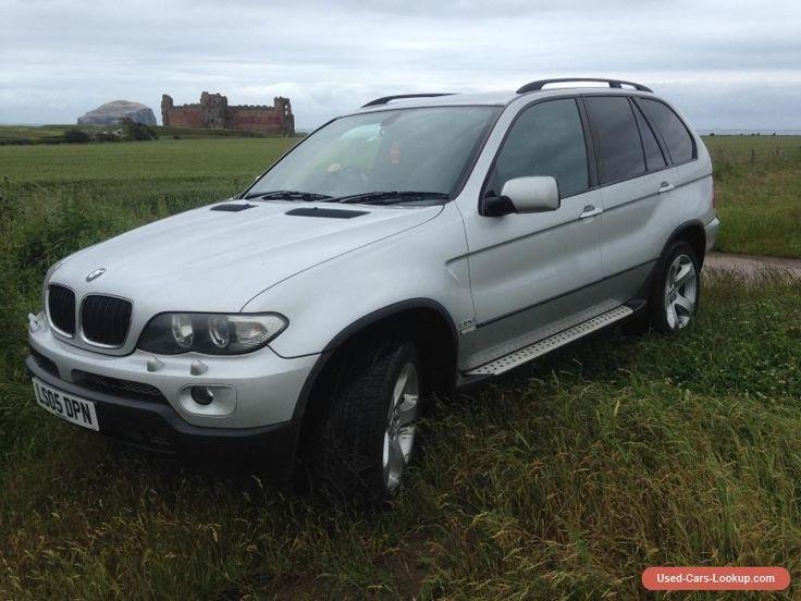 2005 Silver BMW X5 Sport 3.0D Auto Black Leather Sat Nav Upgrade Sound DVD #bmw #x5 #forsale #unitedkingdom