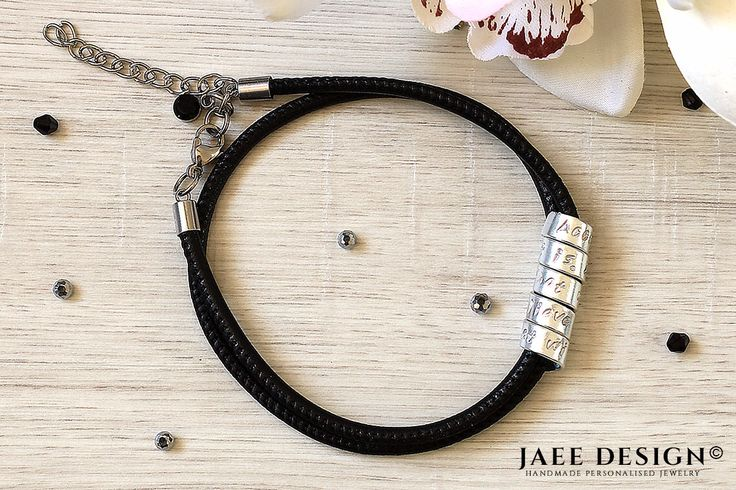 Graduation gift Leather Personalized bracelet Custom jewelry Swarovski Hand Stamped Secret message Mothers day Anniversary gift Sister gift by Jaeedesign on Etsy https://www.etsy.com/listing/525373697/graduation-gift-leather-personalized