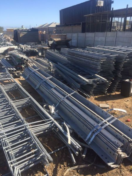 Unused Galvanised Angle Iron of Various Sizes and Lenghts;Ladders;Poles;Nuts, Bolts and Washers100 Tons Available for Sale@ R7.00 per kg...199432327