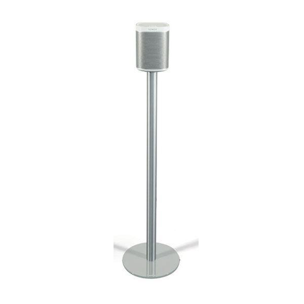 Spectral SP1-SV zilver rond (paar)  Description: Spectral SONOS PLAY:1 zilver glas 2x vloerstandaard Deze Spectral SONOS PLAY:1 zilver glas vloerstandaard is perfect om je witte PLAY:1 op te plaatsen. Het zijn twee vloerstandaarden waarmee jij je SONOS speaker op een perfecte luisterhoogte kan plaatsen. Het is een stabiele standaard met een voet van zilver gelakt veiligheidsglas. Hij heeft een aluminium buis met adapter waar je de SONOS PLAY:1 perfect op kan plaatsen. Daarnaast is de SP-1SV…