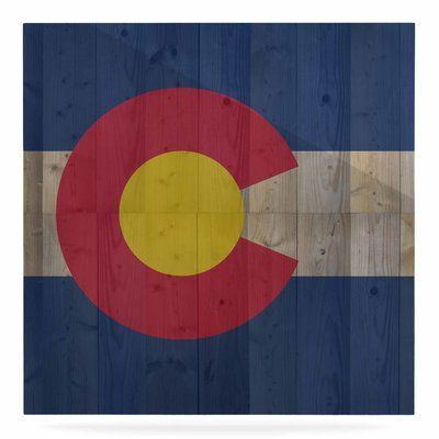 """East Urban Home 'Flag of Colorado' Graphic Art Print on Metal Size: 10"""" H x 10"""" W x 1"""" D"""