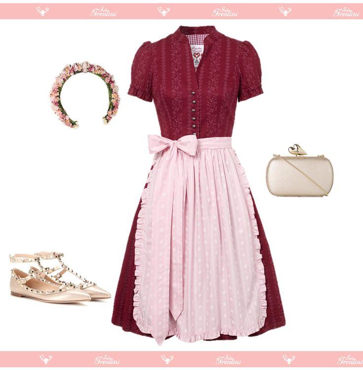 Dirndlkleid Martha Julia Trentini Kränzchen von miss lillys hats Schuhe von Valentino  Clutch von DVF - Diane von Furstenberg