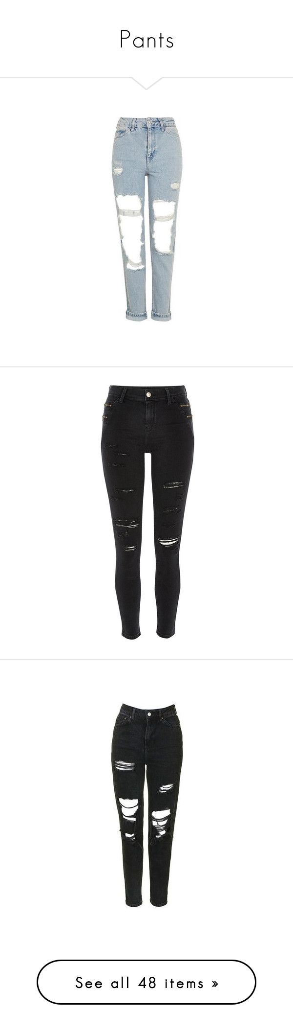 """""""Pants"""" by mat-beades ❤ liked on Polyvore featuring jeans, bottoms, bleach stone, bleached ripped jeans, high rise jeans, ripped jeans, high-waisted jeans, blue ripped jeans, pants and calças"""