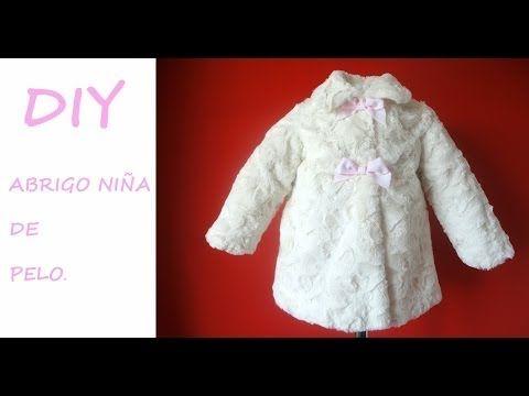 Como hacer un Abrigo de niña.Girl coat with patronesmujer.com - YouTube