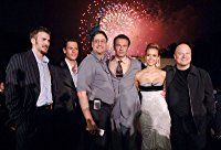 Jessica Alba, Michael Chiklis, Chris Evans, Ioan Gruffudd, Julian McMahon, and Tom Rothman at an event for Fantastic Four (2005)