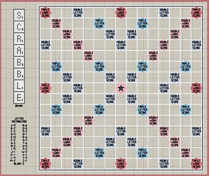 Cross stitch Scrabble board!