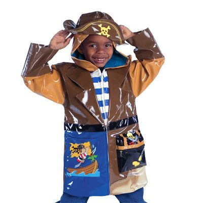 This pirate rain coat is more than just a rain coat it is a coat that can be worn in the spring, summer and into fall.  This rain coat is made from premium quality PU with a lightweight, comfy printed nylon lining.