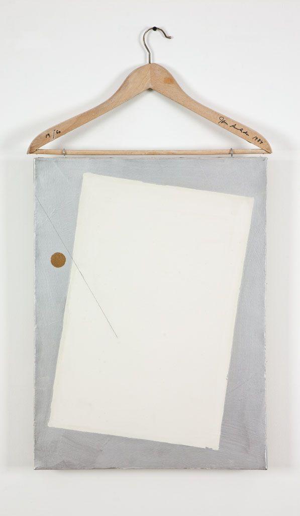 John Armleder/ Coat Hanger with Painting 1984