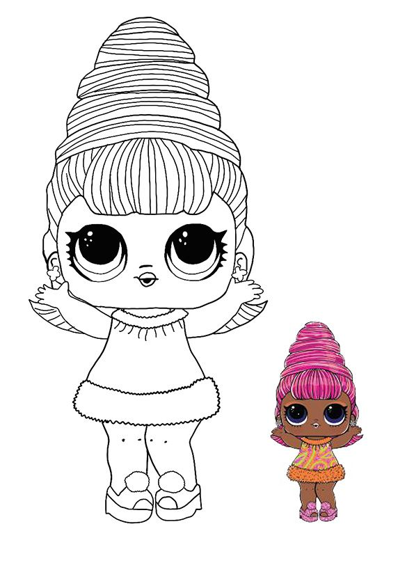 Lol Surprise Hairvibes Supreme Queen Coloring Page Cute Coloring Pages Lol Dolls Coloring Pages