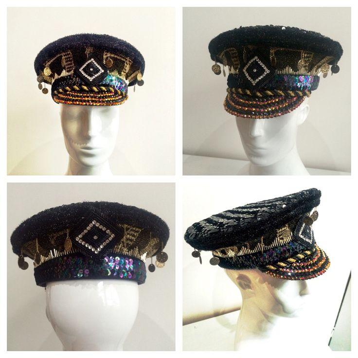 Love Khaos Magical Party hat, burning man, festival cap,  vintage sequin gypsy headdress UNISEX by LoveKhaos on Etsy https://www.etsy.com/listing/256268561/love-khaos-magical-party-hat-burning-man
