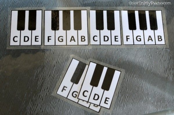 These cards are a great manipulative to use with young beginners when you are first introducing them to the keyboard.