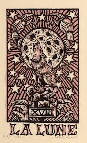 the moon tarot card tattoo - (but probably look up the meaning first. or like we each get different cards)