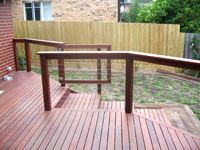 Stainless steel balustrading for timber post