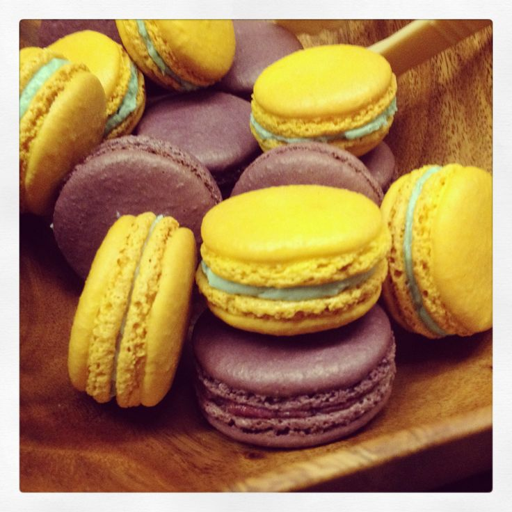 Macarons - lemon pistachio and black currant | Sweets & Treats ...