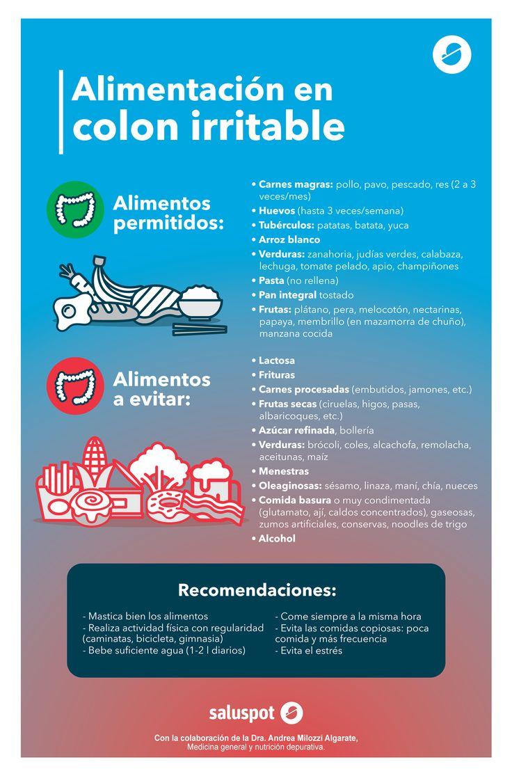 Colon irritable: ¿qué puedes comer y qué no? (Infografía)
