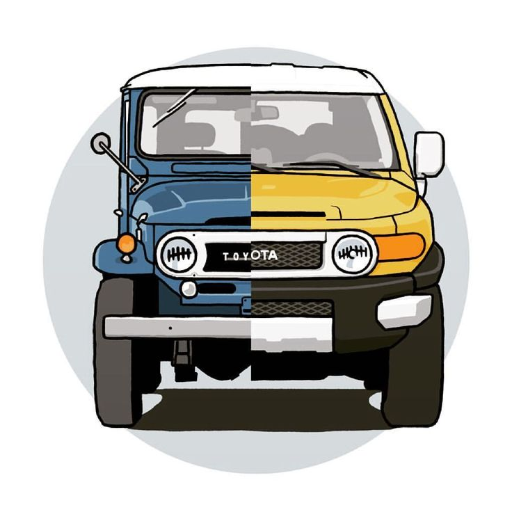 Cruisers, old and new. Developed from a recent commission. #toyota #landcruiser #fj40 #fjcruiser