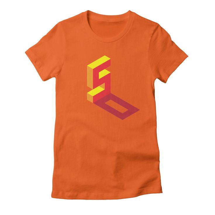 50-2 womens t-shirt in orange_poppy