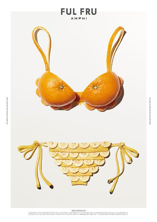 Cool Fruit Swimwear Ads for this Japanese Underwear Shop