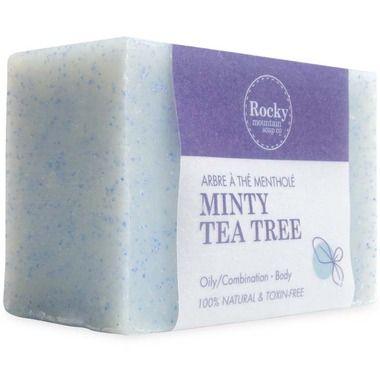 Rocky Mountain Soap Co. Minty Tea Tree Bar Soap