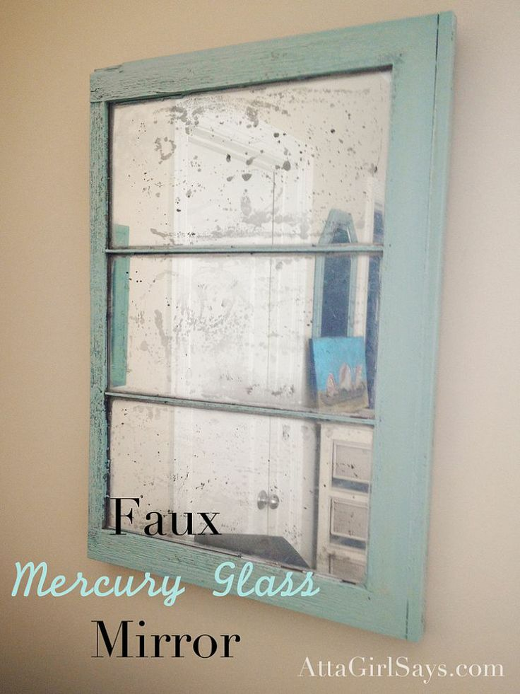 diy mercury glass mirror mercury glass glasses and window. Black Bedroom Furniture Sets. Home Design Ideas