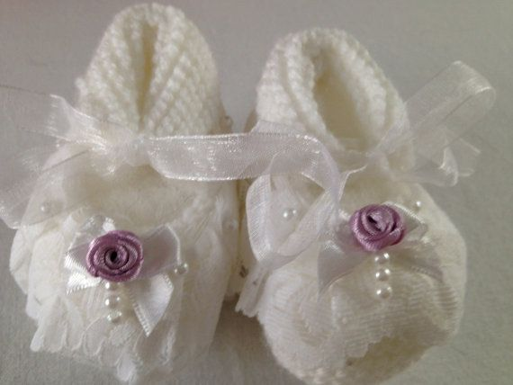 Baby Booties, Hand Made Knitted Baby Boot, Organic Soft Knitted Socks Knitted by Hand DISCOUNTED 25 to 10 USD!!!
