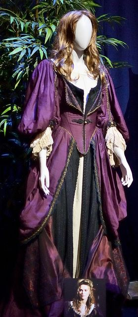 Elizabeth Swann Costume from Pirates of the Caribbean: Curse of the Black Pearl--    Worn by Kiera Knightley.  --Taken at the D23 preview of Treasures of the Walt Disney Archives exhibit at the Ronald Reagan Library in Simi Valley, California.