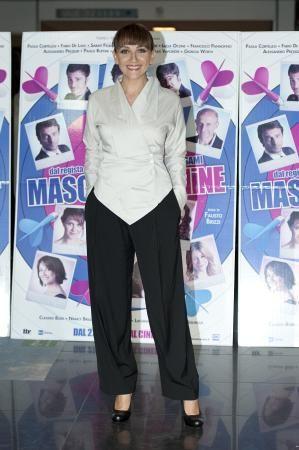 "Lucia Ocone, actress in the movie ""Maschi contro Femmine"""