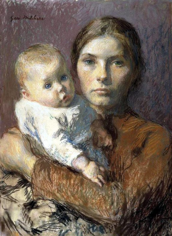 Mother And Child C 1906 Oil On Canvas Owned By The Art