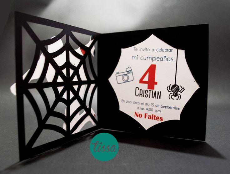 Invitaciones de Spider Man #spiderman #invitacion #hombrearaña #invitaciones #niño #fiesta #telaraña #festejo