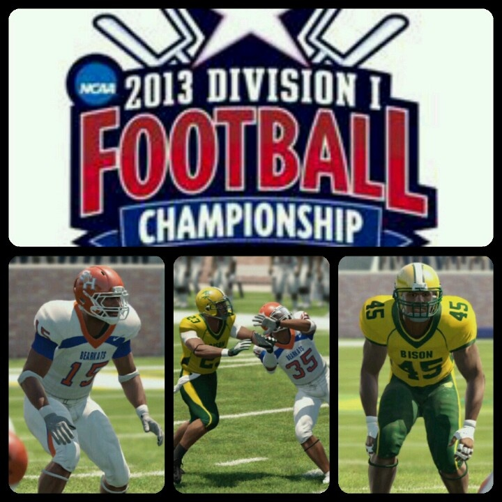 Tomorrow the FCS Championship  between Sam Houston State (@BearkatSports) and North Dakota State (@NDSU) kicksoff @ 1pm est on  @_ESPN2. Check out my simulation of this game on my YouTube Channel at http://www.YouTube.com/butcherblackkkz. Please like, subscribe and share. #instagood , #instagaming , #instagamer , #easports , #NCAAFOOTBALL13 , #NCAAFOOTBALL , #FCSChip , #SamHoustonStateUniversity , #NorthDakotaStateUniversity , #Bearkats , #Bison , #KKGN