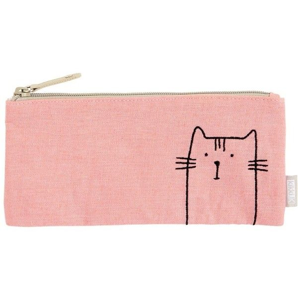PENCIL CASE VÄNSKAP (45.710 COP) ❤ liked on Polyvore featuring home, home decor, office accessories, cat pencil case and cat pencil pouch