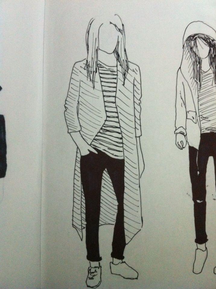 Clothing girls Illustration Drawing Iink
