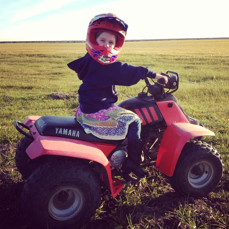 Little Girls And Four Wheelers Outdoor Power Equipment