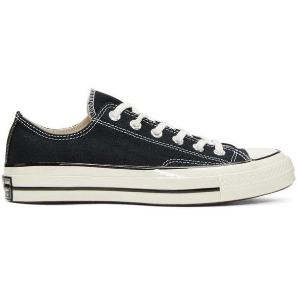 Converse Black Chuck Taylor All-Star 1970's Sneakers ($67) ❤ liked on Polyvore featuring men's fashion, men's shoes, men's sneakers, black, mens rubber shoes, mens black sneakers, converse mens shoes, g star mens shoes and mens black lace up shoes