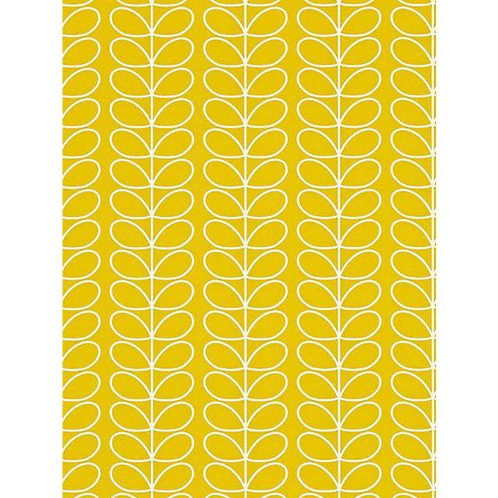 Buy Orla Kiely House for Harlequin Linear Stem Wallpaper, Yellow, 110400 Online at johnlewis.com